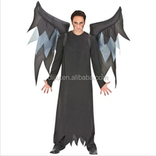 Adult Red & Black Inflatable Devil Wings Halloween Costume Trick or Treat
