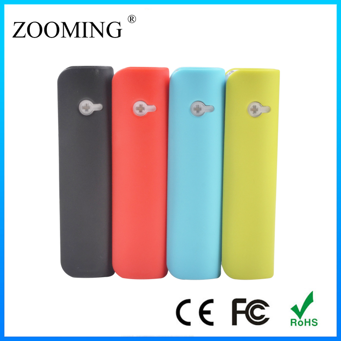 New coming hi-tech power bank charger 2600mah with led light for factory price