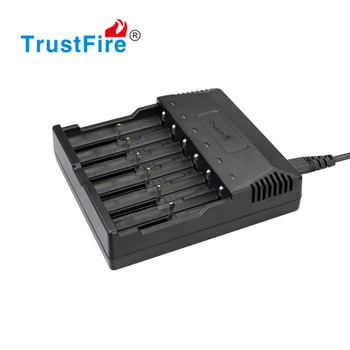 TrustFire TR-012 battery chargers with 6 slots for Li-ion/NIMH batteries, charger 18650 battery charger