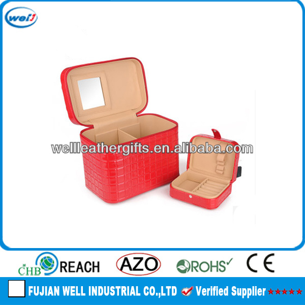 new design leather cosmetic brush case