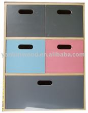 3 color wooden cabinet with Drawer Box