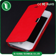 Fashionable! Perfectly fit PU leather flip cover for iphone5