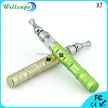 Popular adjustable voltage X7 electronic cigarette bubbler pipe