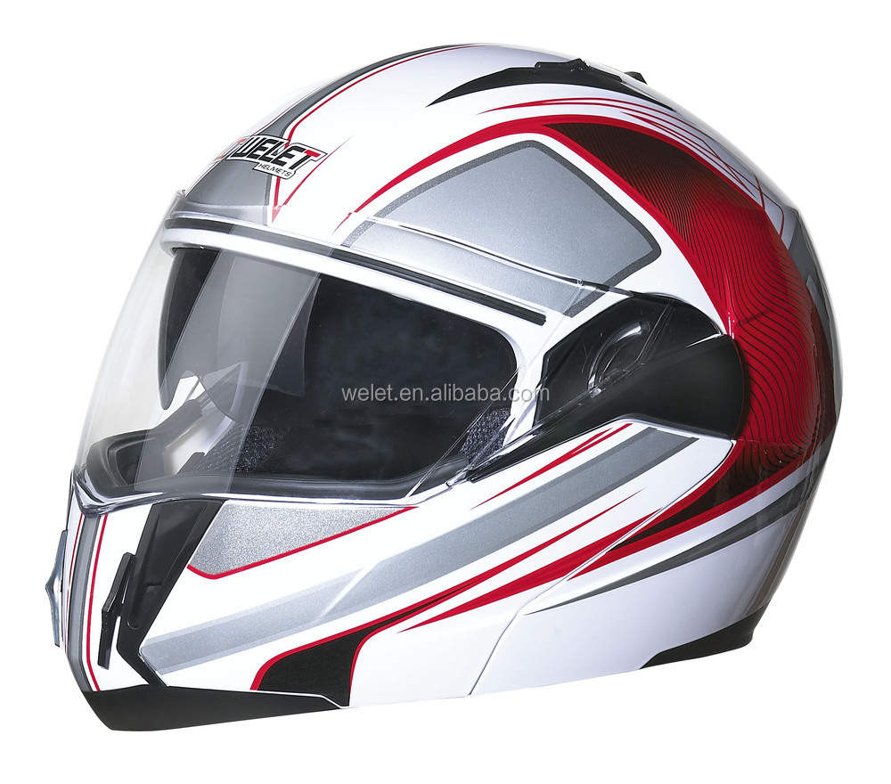 DOT helmet New flip-up helmet motorcycle helmet double visers