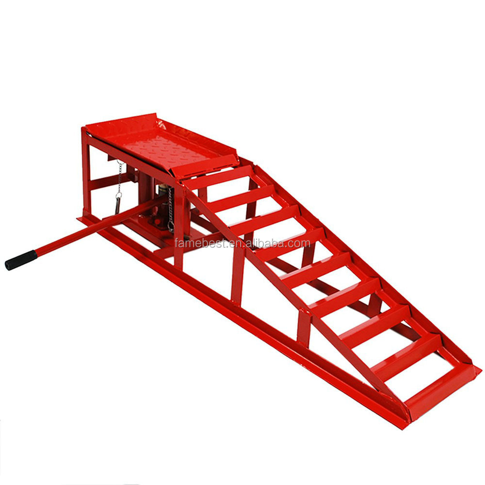 Height Adjustable Hydraulic Car Ramp Lift Buy Car Ramps Product On Alibaba Com