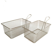 Trade assurance stainless steel cooking french fries wire mesh deep filter serving mini fry basket