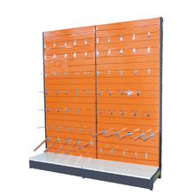 Metal slatwall backing for supermarket display commercial round rack store <strong>shelf</strong>