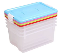 Opaque adjustable plastic divided storage box