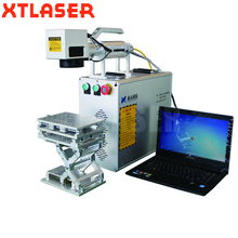 Christmas Sale 20W Portable fiber electronic laser marking machine for printed circuit board, chip,mobile phone shell