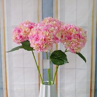 Artificial hydrangea single long stem wedding decoration flower