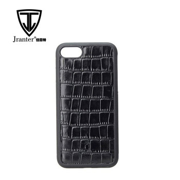 Professional Manufacturer embossed crocodile pattern leather cover for i phone 7 case