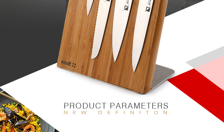 kitchen knife magnetic bamboo knife block