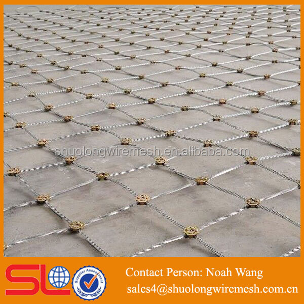 High Quality ss 316 wire mesh used in mountain for protection / stainless steel wire rope mesh