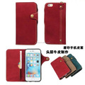 Retro Old Flip Button Book Wallet Genuine Leather Case Cover For Apple iPhone 6S /6S Plus 5.5""