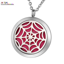 Fashion stainless steel pendant Jewelry pendant necklace floating Spider-Man design locket charm pendant