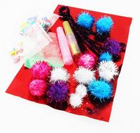 gift and craft, festival celebration glitter pompom ,Fun poms