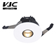 VJC Round IP44 7W 8W 10W Pinhole Black Inner Trim Trimless LED cob lighting Hotel project Fixed Recessed Downlight