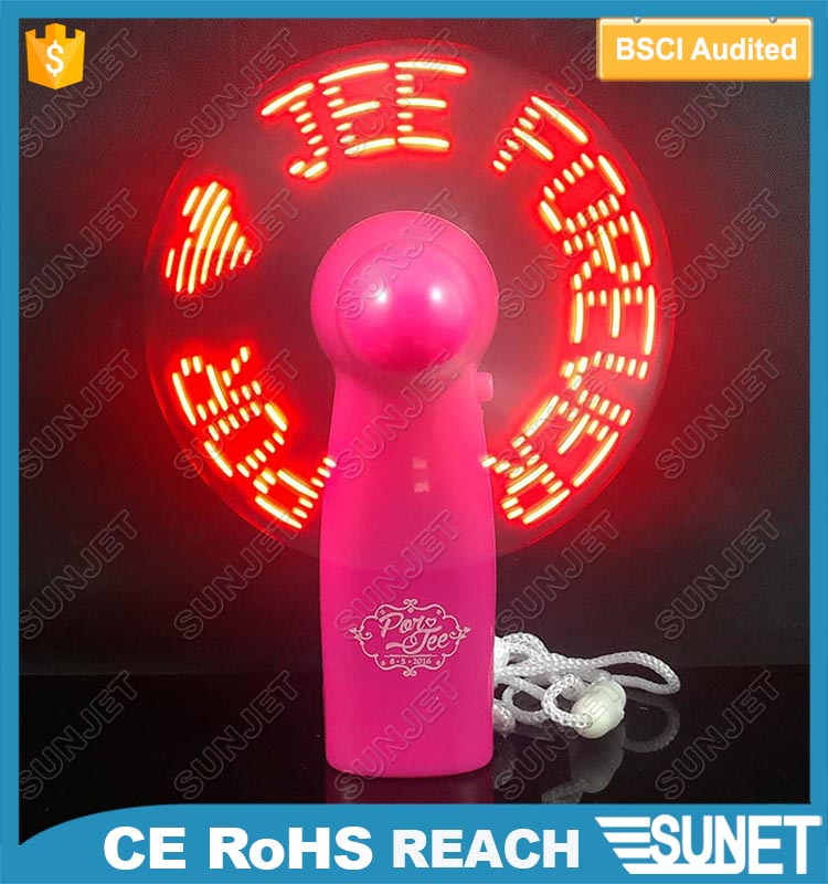 Best promotion item led message fan air cooler low cost plastic battery operated exhaust fan