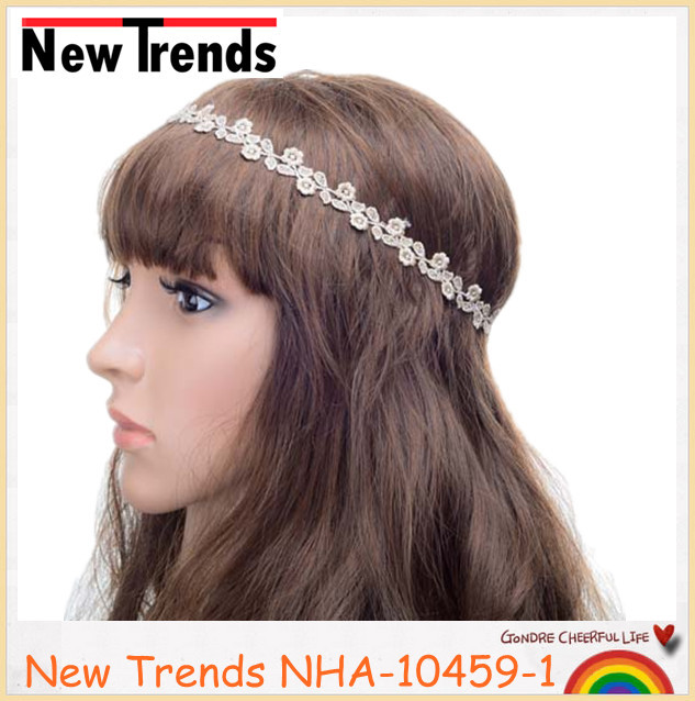 Hot selling lady's lace headbands various elastic fancy <strong>hair</strong> <strong>accessories</strong>