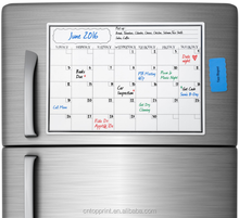 Magnetic Fridge Monthly Calendar /Write and Wipe Message Board/Magnet Fridge Calendar