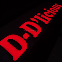 Quality red acrylic frontlit led letter sign programmable color changing portable outdoor