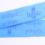 Fashion Custom Light Blue Silk Screen Printing Nylon Lanyards Wholesale