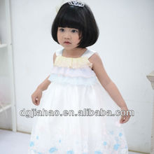 2013 modern design lovely Colorful uper layered kids gown picture