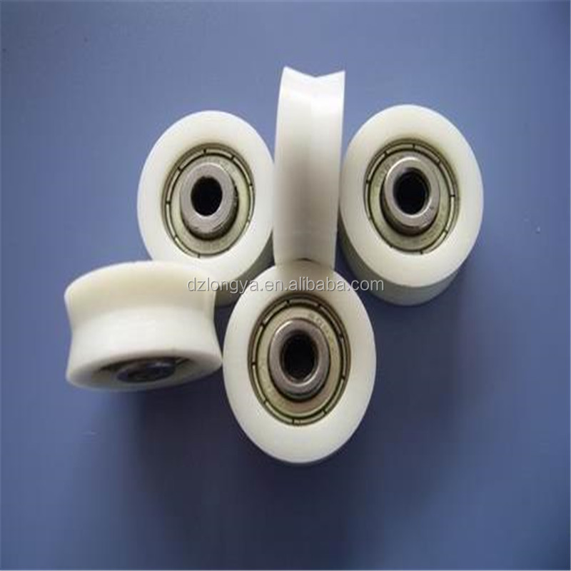OEM engineering cnc machined nylon pulley 3 v groove durable plastic pulley wheels with bearing