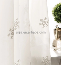 Embroidery Voile sheer curtain distinction curtains embroidered loops