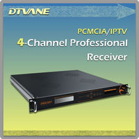 Satellite to IP DVB-Quad receiver Multi-Service demodulator descrambler with 4 CI slots for IPTV Application