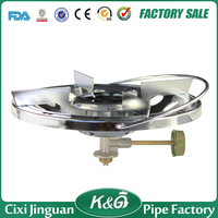 Factory Supply China Blue Flame Brass Valve Mini Portable LPG Gas Cast Iron 1 Burner Single Burner LPG Gas Camping Gas Stove
