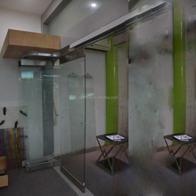 CHINA door hardware/ folding doors for frameless frosted glass