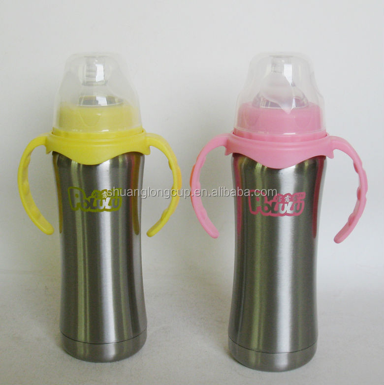 BPA-, phthalate- and lead-free Stainless Steel Curvy Baby Feeding Bottle