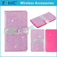 China Wholesale For Lg K7 Diamond Crystal Bling Leather Flip Wallet Case Cover