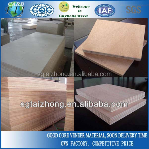 Okoume face/back Commercial Plywood
