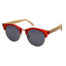 China Wholesale Lastest Design Round Wooden Bamboo Sunglasses
