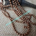 Anti copper color beaded Necklaces chain with Connectors