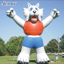 Giant Outdoor Inflatable Cartoon Character Wolf Man