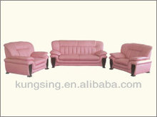 modern pink leather sofa set