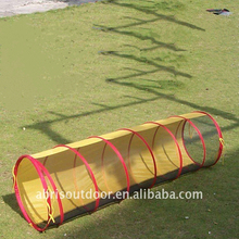 Half Fabric Half Mesh outdoor dog play pet mesh tunnel