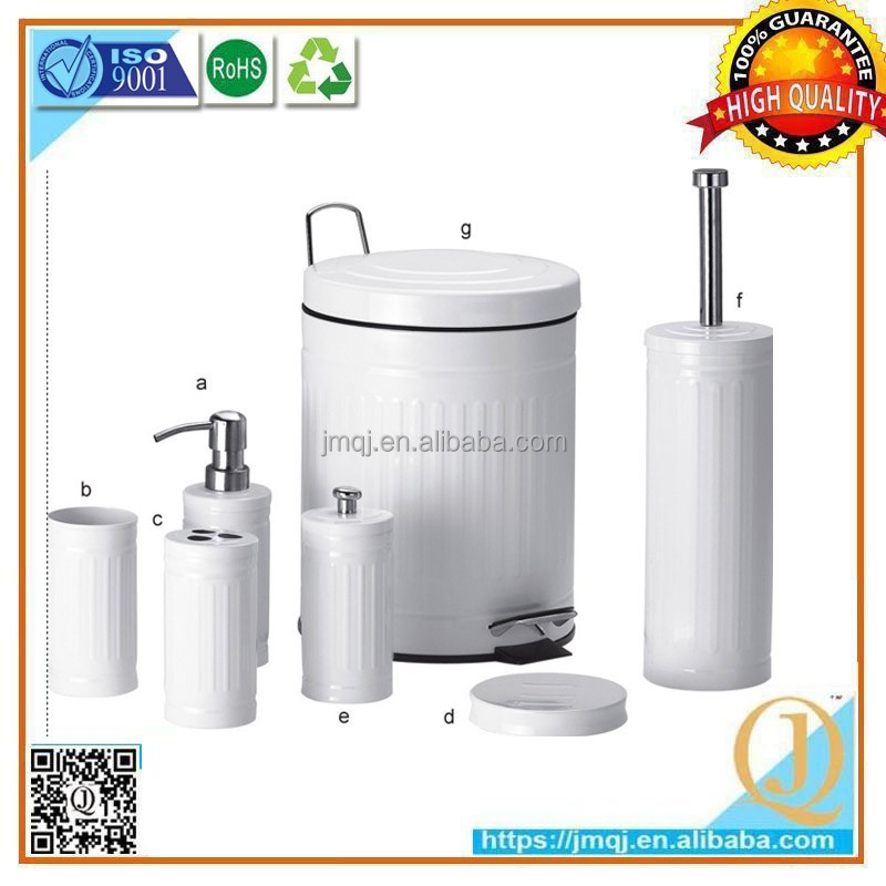 7pcs wholesale hardware white painting bath gift sets