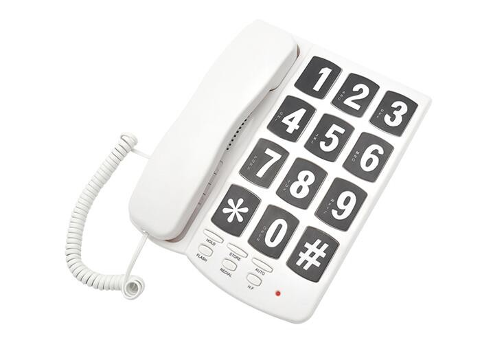 Hands free speaker fixed line jumbo button telephone.(TM-PA037)