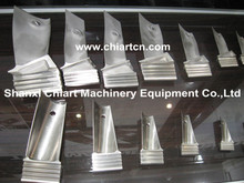 Stainless steel turbine blade for turbocharger part