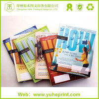 China free design perfect and glue binding two-side art paper printing softcover book printing