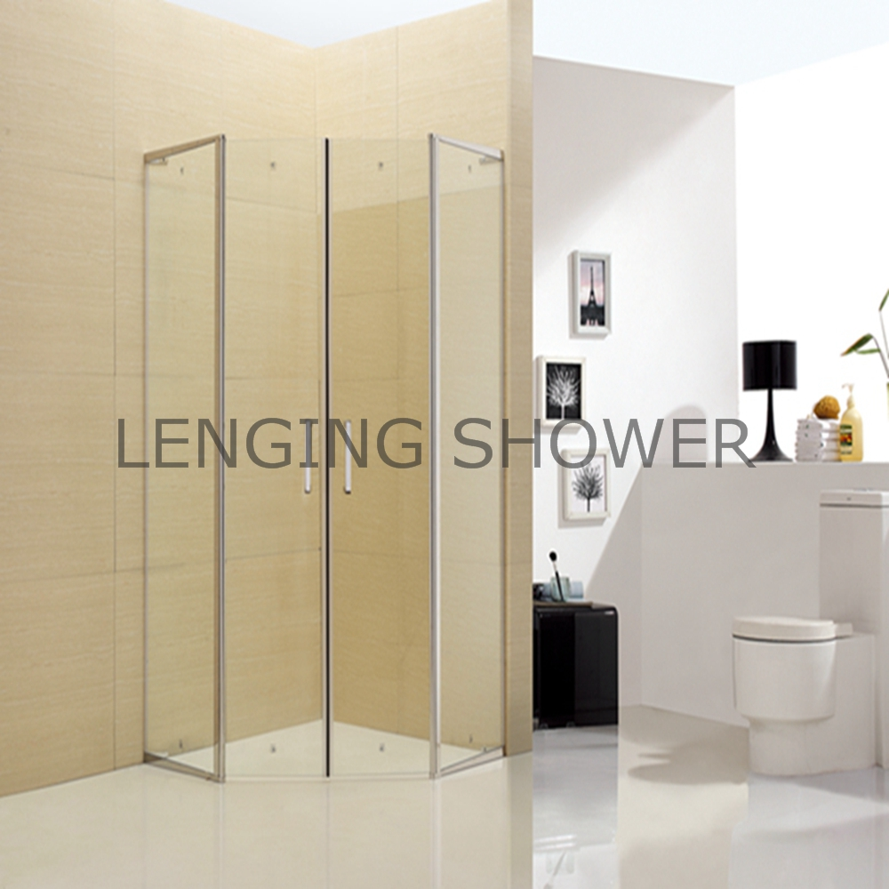 tempered glass diamond shape shower room