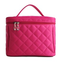 Quilted Nylon Cosmetic bag Single Layer Travel Makeup Bag