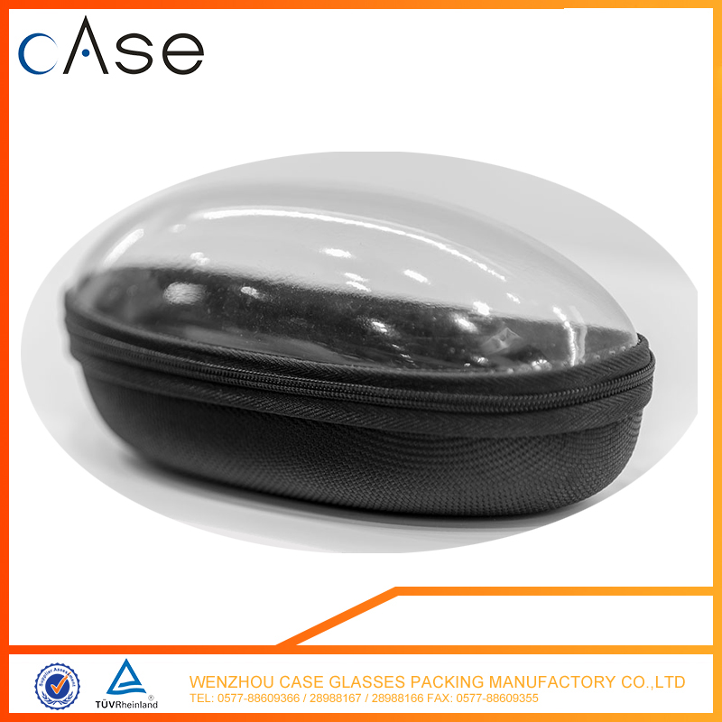 EVA transparent plastic sunglasses case eyeglass case with zipper