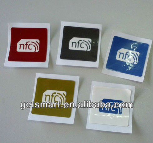 Different Color PVC Coloured Cheap NFC RFID Custom Print NFC Tag NTAG203