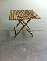 Bamboo fold table