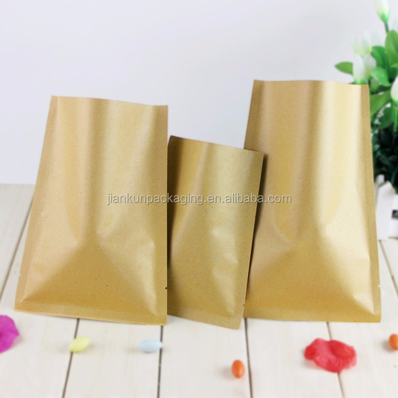 Hot seal 3 side colorful foil vacuum bag food plastic pakaging